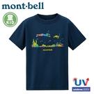 【Mont-Bell 日本 幼童 WIC.T O-I MATTE 短袖排汗T恤《海軍藍》】1114425/圓領衫/排汗衣