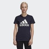 Adidas CORE/NEO LOGO女款深藍色運動棉質短袖上衣-NO.GK2513