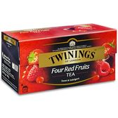 【Twinings唐寧茶】四紅果茶(2gx25入) x3入