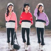 女童秋裝套裝兒童裝韓版秋季中大童時髦洋氣運動兩件套 東京衣秀