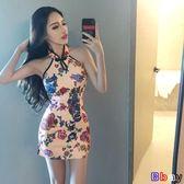 [貝貝居] 春夏時尚連身裙改良少女小香風短款中式復古旗袍女