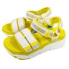 (C5) SKECHERS 女鞋 MAX CUSHIONING 涼拖鞋 厚底涼鞋 輕量Q彈140424WYL夏日黃 [陽光樂活]