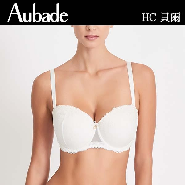 Aubade-貝爾蕾絲75C新娘款可拆肩帶內衣(樣品)HC