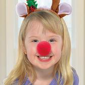 聖誕 裝扮 2吋麋鹿紅鼻子4入