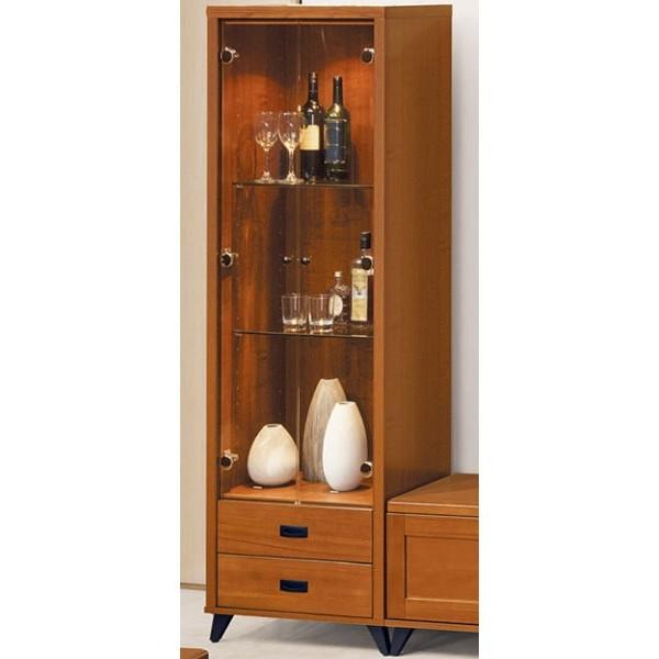 展示櫃 客廳櫃 高低櫃 BT-113-4 樟木色展示櫃【大眾家居舘】