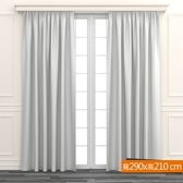 極簡直條細紋窗紗 寬290x高210cm