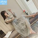【V9258】shiny藍格子-飄逸仙女...