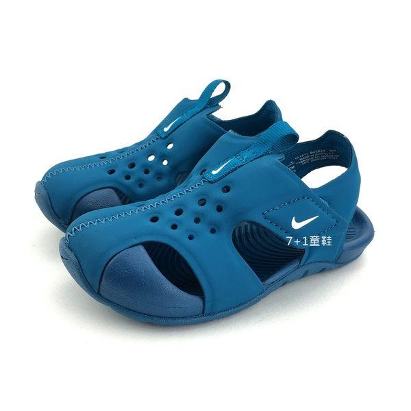 小童 NIKE SUNRAY PROTECT2 (TD) 輕量 運動 休閒涼鞋《7+1童鞋》F806 藍色
