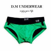 D.M男士內褲低腰性感男純色拼色三角褲時尚純棉青年棉質大碼吸汗