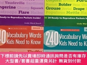 二手書博民逛書店240罕見Vocabulary Words Kids Need to Know:Grade 1-4冊Y4350