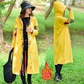 民族風外套秋冬新款文藝加絨加厚中長款連帽棉麻顯瘦外套洋裝 降價兩天