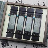 古典中國風木質書簽禮盒套裝紅木黑檀木貼畫鏤空雕刻流蘇訂製禮品  街頭布衣