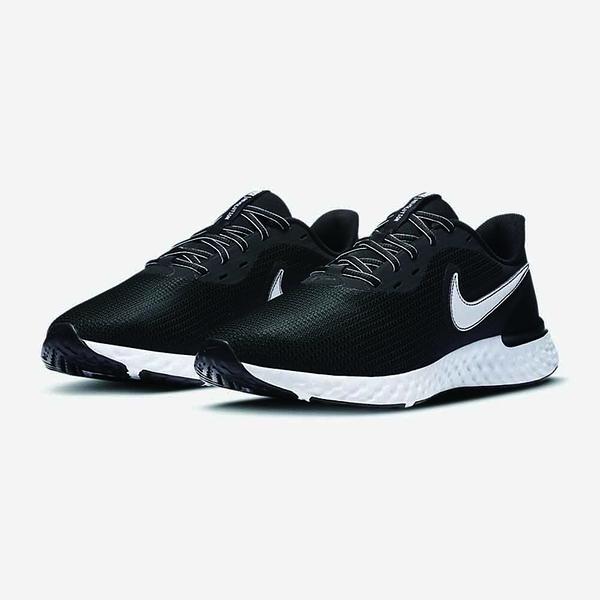 NIKE系列-REVOLUTION 5 EXT 男款黑色輕量透氣運動慢跑鞋-NO.CZ8591001