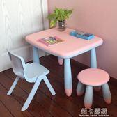 升級新款加厚兒童桌椅幼兒園桌椅寶寶桌學習書桌加固小孩桌椅套裝igo  莉卡嚴選