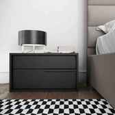 北歐床頭櫃簡約現代時尚床頭櫃黑白儲物櫃 創意日式床邊櫃床頭櫃 igo  全館免運