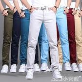 休閒褲夏季休閒褲男士直筒修身長褲男薄款布褲子寬鬆青年春夏款純棉韓版 小天使 618