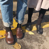 學院風娃娃鞋搭扣大頭單鞋厚底小皮鞋女