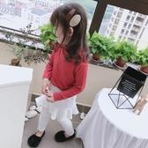 童裝2020春秋季新款 中小童寬鬆舒適打底衫 女童個性舒適高領T恤 中秋降價