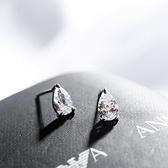 耳環 925純銀鑲鑽-時尚大方生日情人節禮物女飾品73gk179【時尚巴黎】
