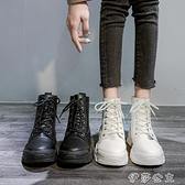 馬丁靴女顯腳小馬丁靴女夏季薄款透氣網紗潮ins鏤空英倫風厚底機車短靴子【快速出貨】