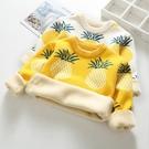 女童毛衣新款兒童加絨刷毛加厚秋冬裝套頭圓領男童寶寶針織打底衫 海港城