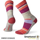 【速捷戶外】Smartwool 美麗諾羊毛襪 SW001238A22 女輕量減震徒步條紋中長襪(粉霧紫)