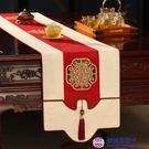 桌布茶旗禪意電視柜飾布餐桌桌布中式桌旗床旗茶幾布【櫻桃菜菜子】