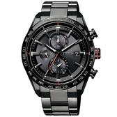 【台南 時代鐘錶 CITIZEN】星辰 電波光動能 商務品味鈦金屬時尚腕錶 AT8185-62E 黑 42mm