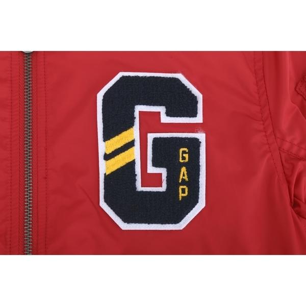Gap男童創意徽標LOGO棒球領外套524943-熱情紅