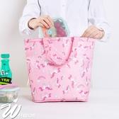 《WEEKEIGHT》清新可愛防潑水可褶疊手提保溫便當袋/野餐袋/保冷袋
