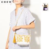 出清 刺繡小包 肩背包 Market免運費 日本品牌【coen】