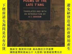 二手書博民逛書店Poems罕見Of The Late T angY255562 A. C. Graham Nyrb Class