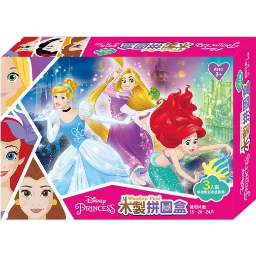 迪士尼公主木製拼圖盒