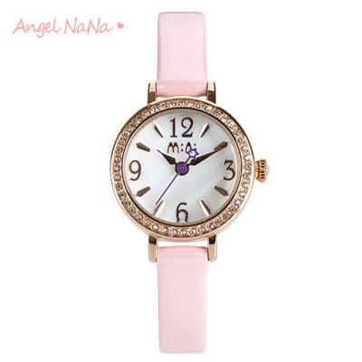 AngelNaNa 手工軟陶錶。韓國MINI正品 立體粉雕女手錶.畢業 耶誕 情人節禮物-天使芭蕾(PU)(SWA0097)