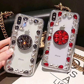 IPhone12 iPhone11 Pro Max 12mini SE2 XS Max IX XR i8 i7 Plus i6S 蘋果手機殼 水鑽殼 客製 手做 水晶邊鑽支架殼