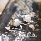 925純銀 幾何礦石造型 針式耳環_質物...