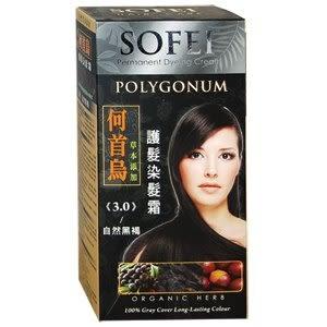 SOFEI舒妃草本護髮染髮霜(何首烏)-3.0自然黑褐
