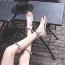 兩穿涼鞋 套趾涼鞋女平底新款網紅兩穿泰國金屬鏈條羅馬ins溫婉同款夏 魔法鞋櫃