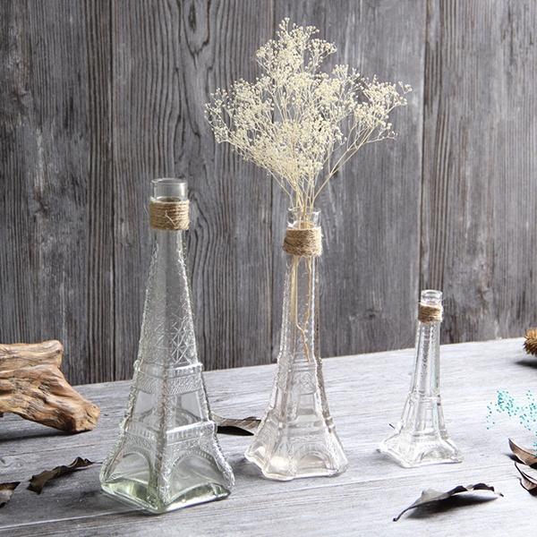 【BlueCat】中鐵塔透明玻璃瓶 花瓶 落地花瓶 花器 花盆 水培容器 插花 乾花 空瓶