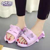 居家拖鞋女室內厚底防滑軟底涼拖鞋