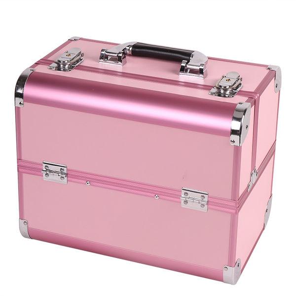 化妝箱手提專業多層跟妝便捷韓國大號高檔美容美甲紋繡工具箱 【PINKQ】