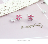 925純銀‧可愛花朵.耳飾 e90677
