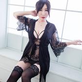 3件式睡袍組 精緻蕾絲性感睡衣睡袍組帶胸墊睡衣性感睡衣組 流行E線A7213