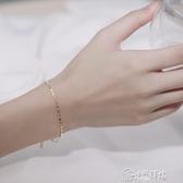 手鍊 日式輕奢手鍊小眾設計百搭女純銀簡約森系閨蜜韓版學生