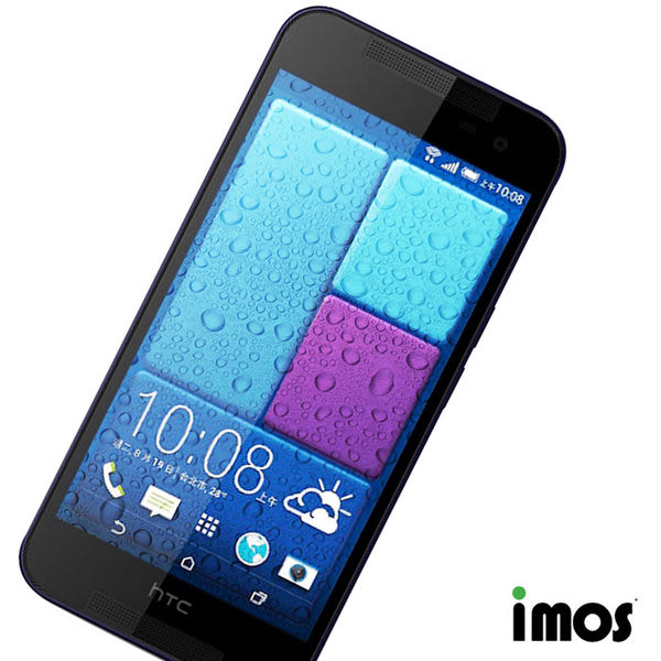 iMos HTC Butterfly2(含上下Dot view貼)超抗潑水疏油效果保護貼