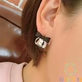高級感耳釘潮簡約蝴蝶結耳環氣質s925純銀針耳飾女【奇妙商鋪】
