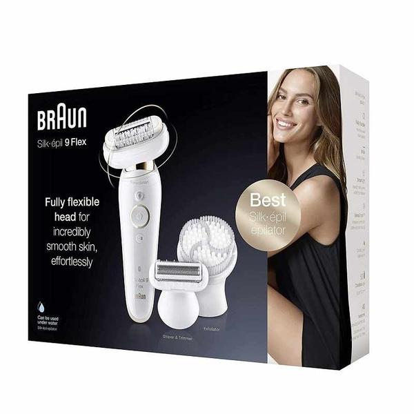 Braun EpilatorSilk-épil9 美體刀套組 9-030 Flexible Head, Facial Hair Removal [2美國直購]