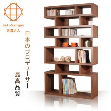 【Sato】CECI橄欖樹隔間收納櫃‧幅90cm(淺棕色)