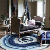 茶幾地毯北歐圓形現代簡約客廳沙發地毯臥室床邊轉椅吊籃椅地墊 mks免運 生活主義