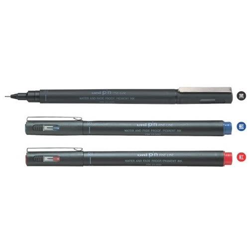 【Uni三菱】 PIN 03-200 藍0.3 代針用筆